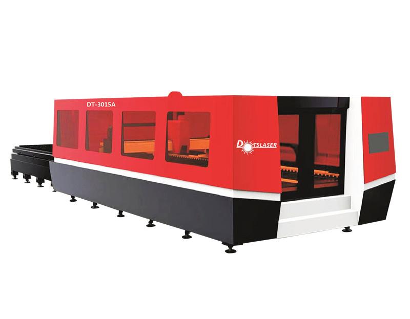 Full Closed Stainless Steel Fiber Laser Metal Sheet Cutting Machine