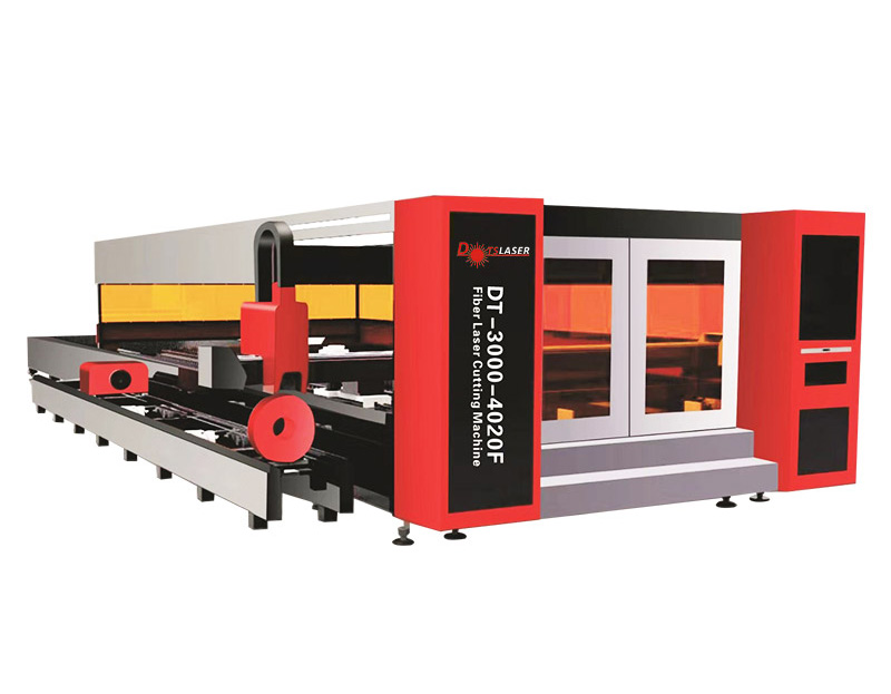 Fully Enclosed Carbon steel Fiber Laser Metal Sheet and Tube Cutting Machine