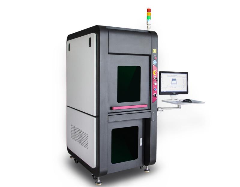 Enclosed safety cover fiber laser marking machine