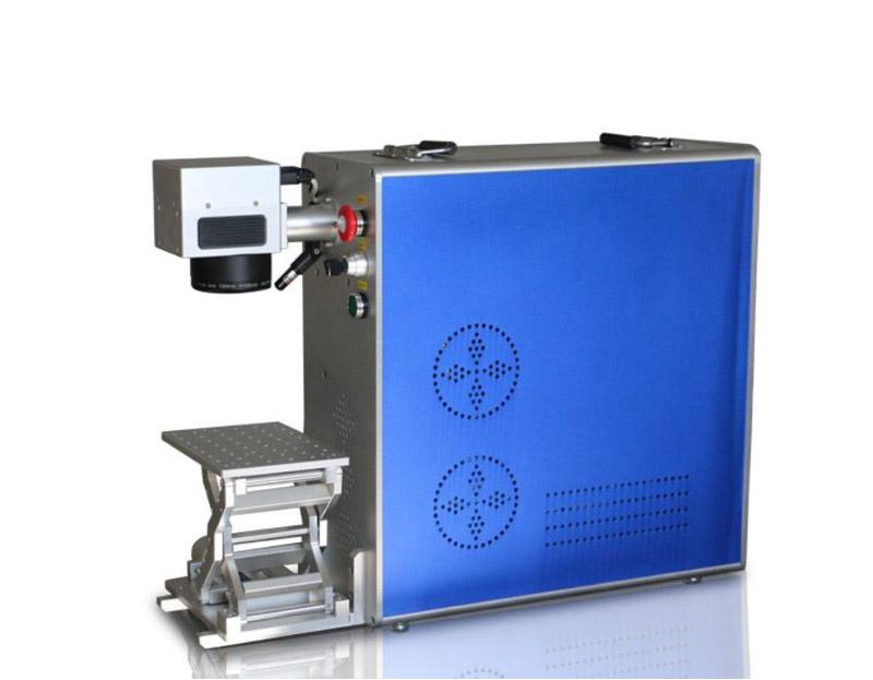 Portable type fiber laser marking machine